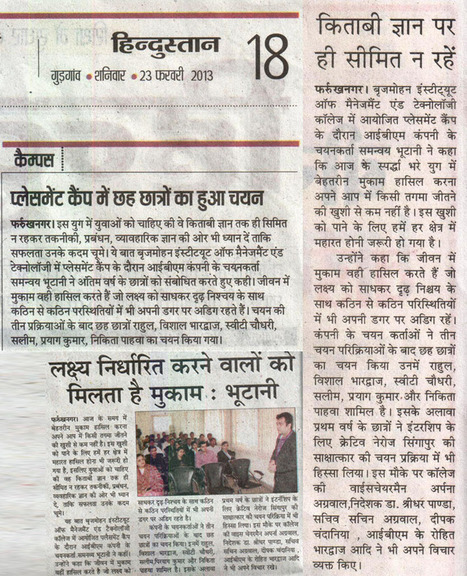 Media Coverage at BIMT Gurgaon - Top Rated MBA College in Gurgaon | Best MBA Colleges in India | Scoop.it