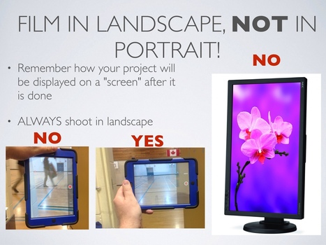iPad Filming Tips Including Film in Landscape, Not Portrait! | Teacher Tips & Tools | Scoop.it