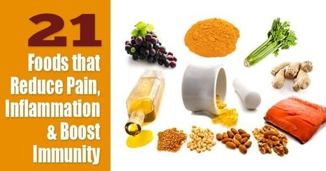21 Foods That Reduce Pain, Inflammation And Boost Immunity | zestful living | Scoop.it