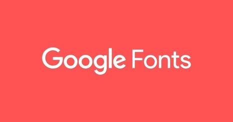 Google Fonts | HTML5 CSS3 | Scoop.it
