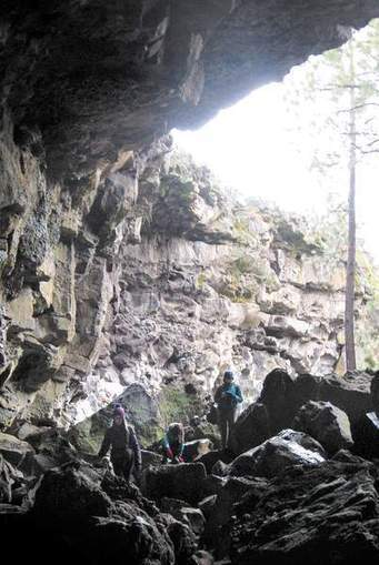 """"""" Caving minutes from home; In Central Oregon, a cave outing is never far"""" - Bend Bulletin 
