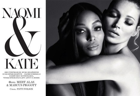 ru_glamour: Kate Moss & Naomi Campbell для Interview Russia December 2012 | Imatge | Scoop.it