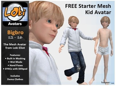 Mesh Kid Avatar Bigbro by Escapades Store | Teleport Hub - Second Life Freebies | Second Life Freebies | Scoop.it