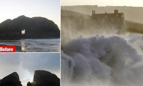 Shattering power of the waves: As storms continue to lash Britain, a huge chunk of Cornwall is reduced to rubble overnight | Postcards from Cornwall | Scoop.it