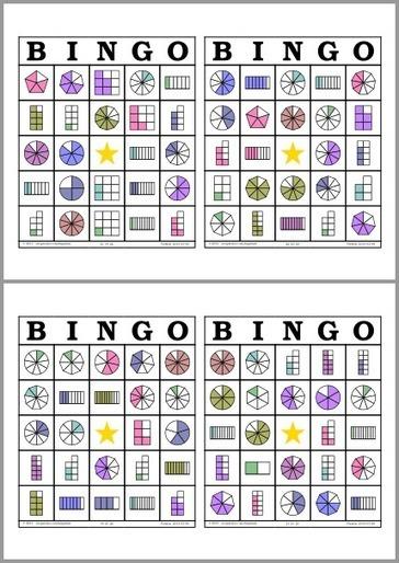 Bingo de Fracciones | Recursos Matemática | Scoop.it