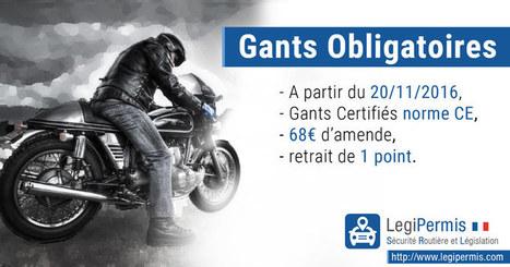 Gants obligatoire à moto à partir du 20/11/2016 - Blog LegiPermis | Sécurité routière | Scoop.it
