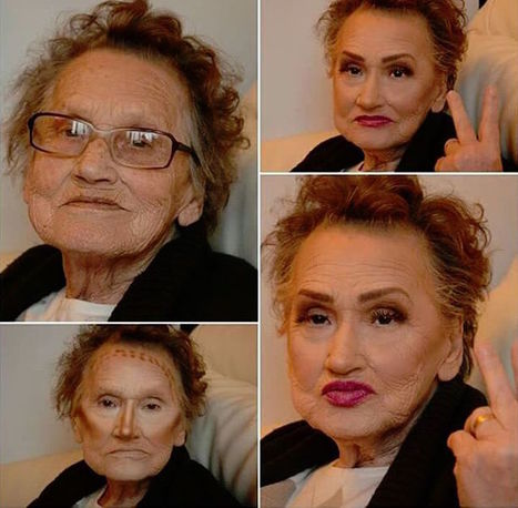 "80-Year-Old Grandma Gets Makeup Transformation from Granddaughter, Becomes ""Glam-ma"" 