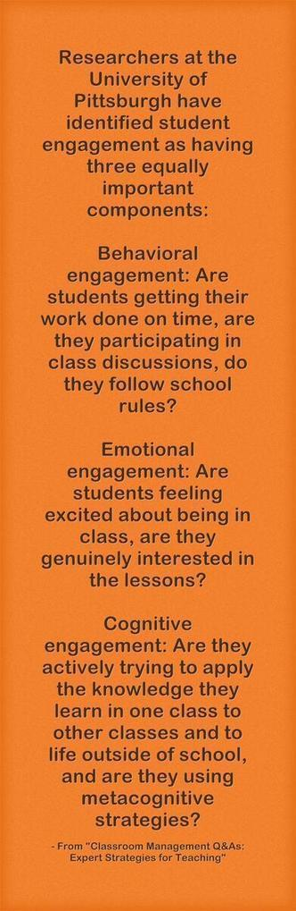 Student Engagement: Behavioral, Emotional, and Cognitive   Nuts and Bolts of School Management   Scoop.it