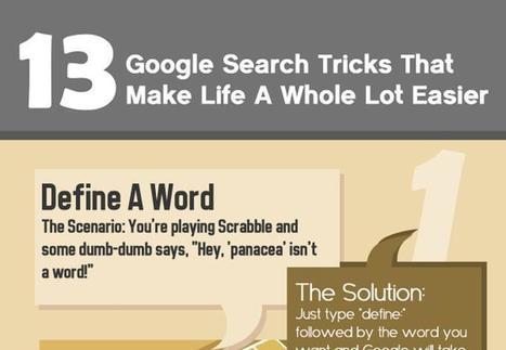 Infografía con 13 tips para facilitar tus búsquedas en Google | Educación Virtual UNET | Scoop.it