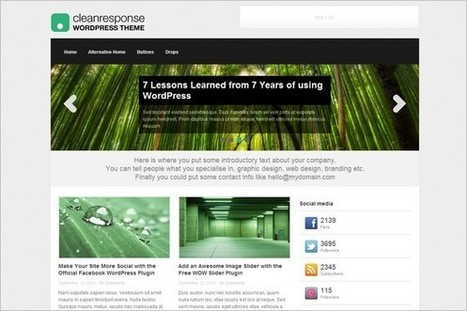 Clean Response is a free WordPress Theme by themefurnace | WP Daily Themes | Free & Premium WordPress Themes | Scoop.it