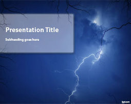 Free Storm PowerPoint Template | Free Powerpoint Templates | Page size on work | Scoop.it