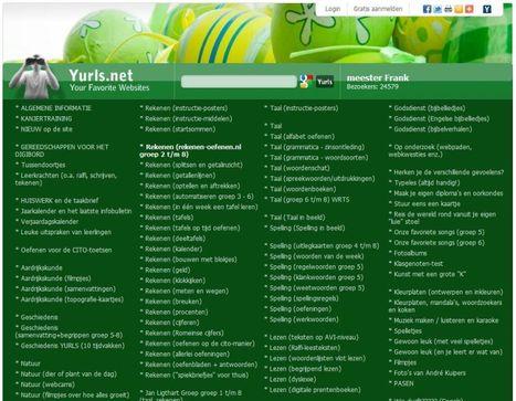 Yurls van meester Frank met o.a. veel materiaal voor rekenen | Onderwijsapps en info | Scoop.it