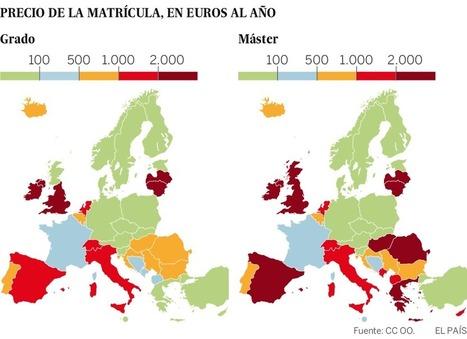Los universitarios españoles, entre los que más pagan de Europa   Higher education politics   Scoop.it