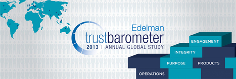 2013 Edelman Trust Barometer | The Course of Integrity | Scoop.it