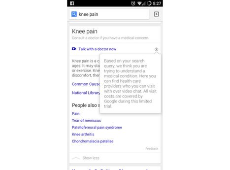 Google trial lets you chat with doctors when you search for symptoms | #VeilleDuJour | Scoop.it