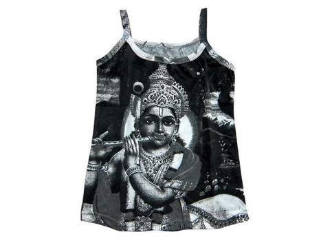 Lord Krishna Print Tank Tops Hindu Art Boho Tees | Bohemian Fashion | Scoop.it