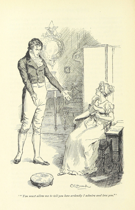 Gorgeous Jane Austen Novel Illustrations From the Time Before Adaptations | translation, words, ideas | Scoop.it