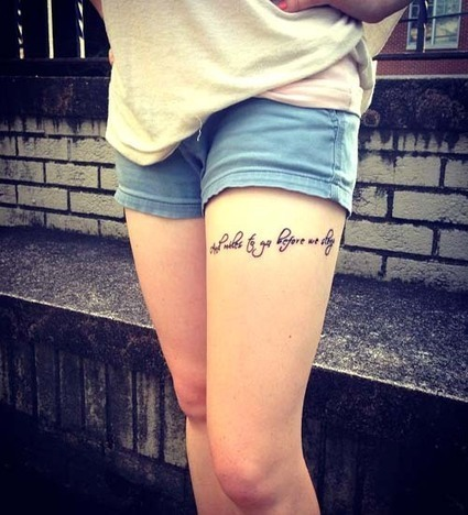 20 Sexy Thigh Tattoos for Women - Yankee Bloggers | Yankee Bloggers  - Tattoo Ideas, Home Decor, Funny Memes | Scoop.it