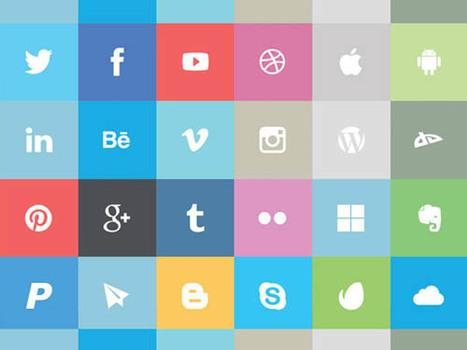 30 Useful Free Social Media Icon Set | Smashmagz | Smashmagz | Scoop.it