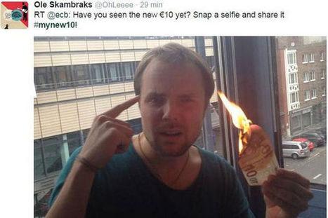 Le concours de selfies de la BCE tourne mal   Going social   Scoop.it