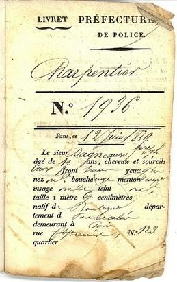 Le livret ouvrier en 1803 | L'actu culturelle | Scoop.it