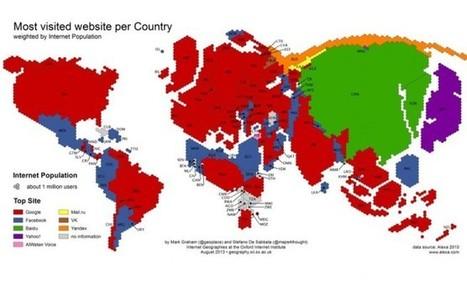 Une carte des sites les plus visités par pays - Brain de Geek   Geeks   Scoop.it