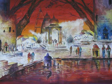 Captivating Painting unveiling Indian religious ceremonies | Online Art Gallery | Scoop.it