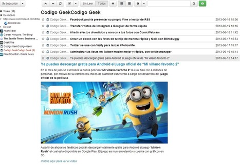 Un nuevo lector de RSS muy sencillo y simple, CommaFeed | Uso inteligente de las herramientas TIC | Scoop.it