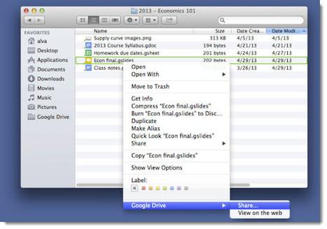 Ya es posible compartir desde la aplicación de escritorio de Google Drive | Recull diari | Scoop.it
