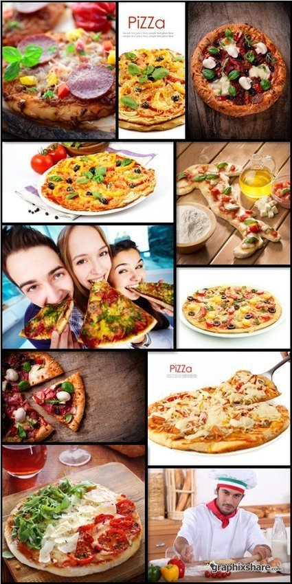 Stock Photos: Delicious Pizza Set #2 | DesignFeed | Scoop.it