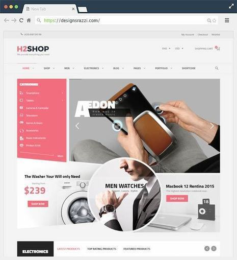 H2shop Multipurpose WooCommerce WordPress Theme | Designrazzi | Designrazzi | Scoop.it