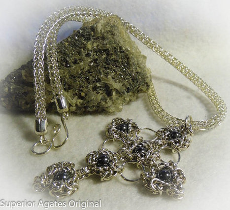 large Silver Cross Viking Knit 18 inch Necklace by Superior Agates | Blarney_Stone Antiques and Collectibles | Scoop.it