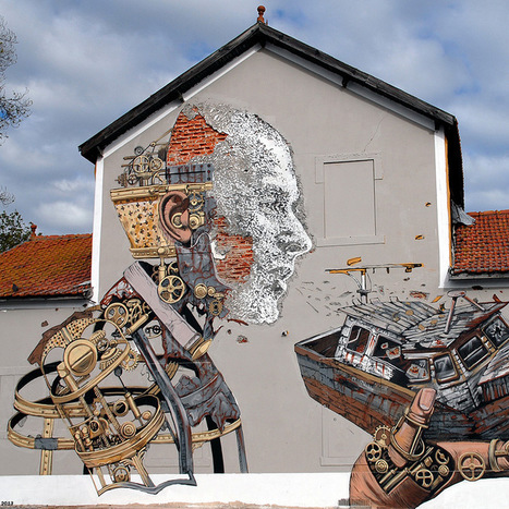 Pixel Pancho and Vhils Collaborate on the Streets of Lisbon | Colossal | Community Art | Scoop.it