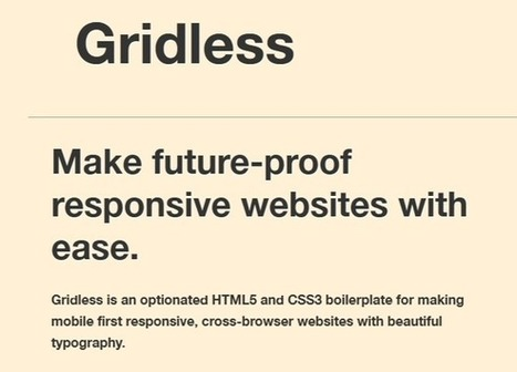 15+ Best Responsive HTML5 Frameworks | Bazaar | Scoop.it