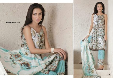 Firdous Collection Lawn Dresses 2013 Vol.2 | stylostyle | Scoop.it