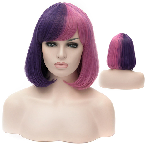 Charming Short Mixed Colof Female Wigs BoBo Hairstyle : fairywigs.com | Synthetic Hair Wigs | Scoop.it