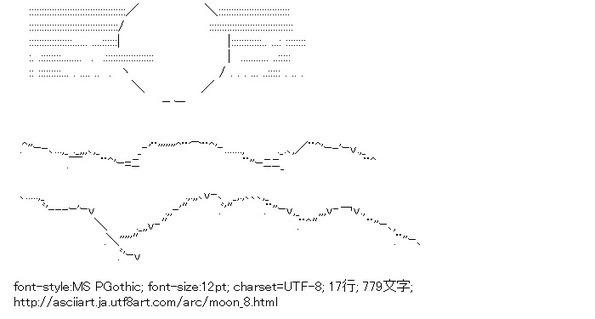 ASCII Art - 月