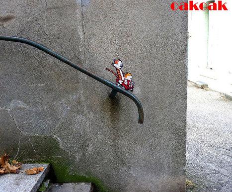 Un artiste de rue qui crée et s'amuse avec l'environnement qui l'entoure… Génial !   Pèle-mêle   Scoop.it