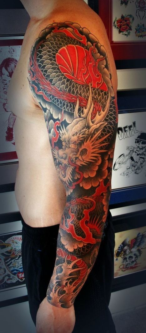 Japanese Dragon Tattoos   FanPhobia - Celebrities Database   Tattos and Jewelry   Scoop.it