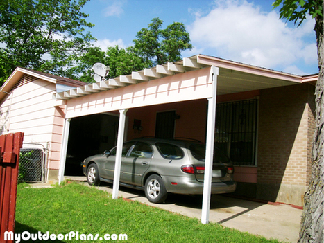 DIY Carport Attached to House | MyOutdoorPlans | Free Woodworking Plans and Projects, DIY Shed, Wooden Playhouse, Pergola, Bbq | Carport plans | Scoop.it