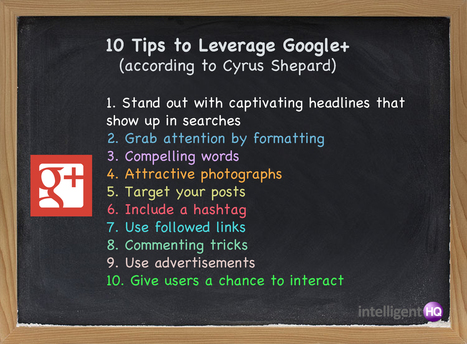 10 Tips to Leverage Google+ for Increased Web Traffic | Social Media Marketing for Your Business | Scoop.it