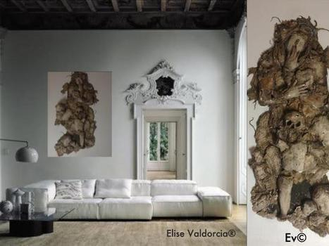"""My last creation on canvas, Cartapesta and mixed technical.  """" THE SOUL """" by Eli... 