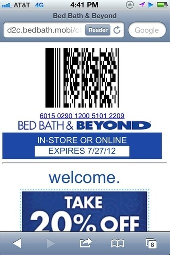 Bed Bath & Beyond increases SMS opt-ins with in-store call-to-action | Mobile & Magasins | Scoop.it