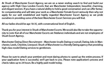 Escorts Recruitment   Beautiful Manchester escorts Can  Offer you  Everything you Need   Scoop.it
