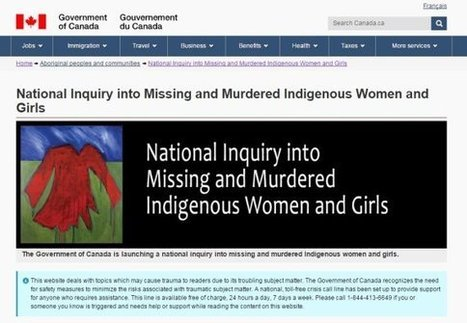 Trigger Warning Added To Indigenous Affairs Website | AboriginalLinks LiensAutochtones | Scoop.it