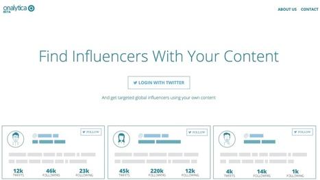 Onalytica. Trouvez des influenceurs à partir de votre contenu | Methode DISC et communication | Scoop.it