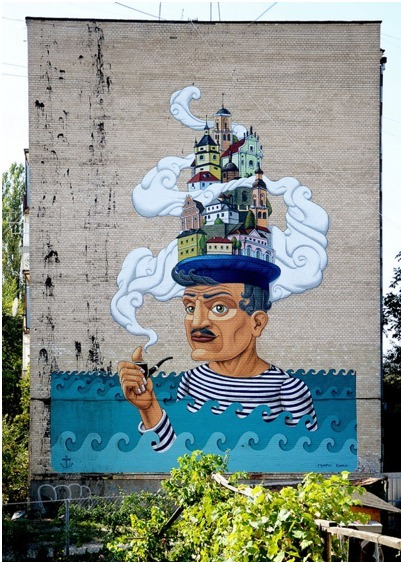 New Mural by Kislow | World of Street & Outdoor Arts | Scoop.it