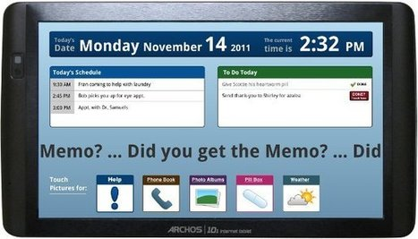 Memo Touch: A Tablet for the Elderly | Embedded Systems News | Scoop.it