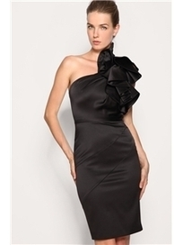 $ 45.99 Elegent One-shoulder Shealth Knee-length Scollop Party Dress   Fashion women   Scoop.it