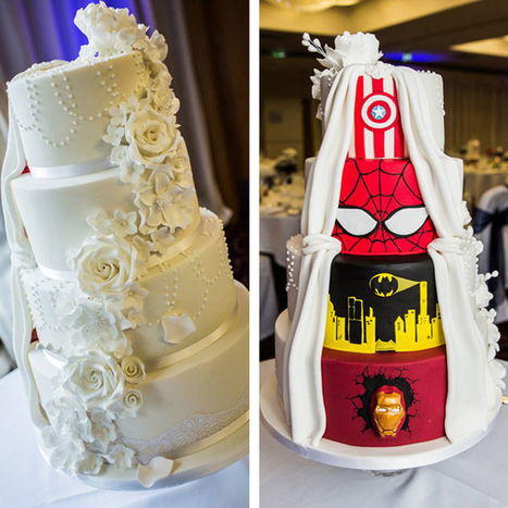 Bride and Groom Combine Two Visions into One Incredible Wedding Cake | Le It e Amo ✪ | Scoop.it